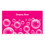 Pink Bubbles, Company Name Business Cards