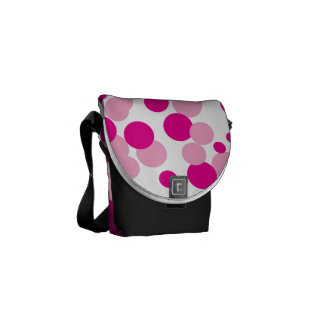 Pink Bubbles Confetti Pattern Small Messanger Bag