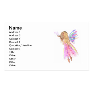 Pink Bubbles Fairy Business Card