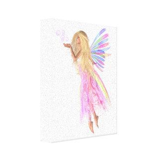 Pink Bubbles Fairy Canvas Print