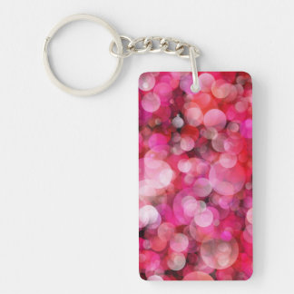 Pink Bubbles Keychain