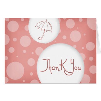 pink bubbles thank you cards