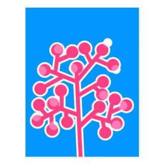 Pink Bubbletree Postcard