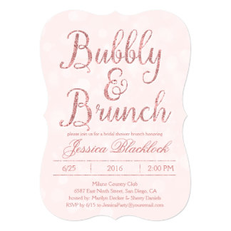 Brunch And Bubbly Invitations Announcements Zazzle