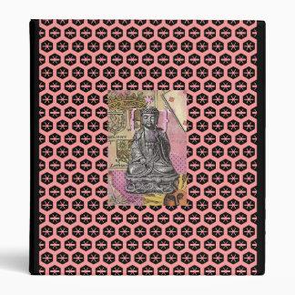pink buddha 3 ring binder