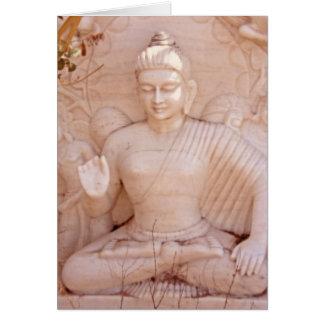 Pink Buddha Card