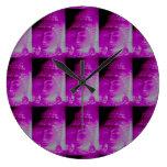 pink buddha clock