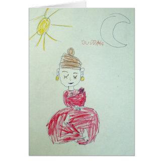 Pink Buddha Greeting Card
