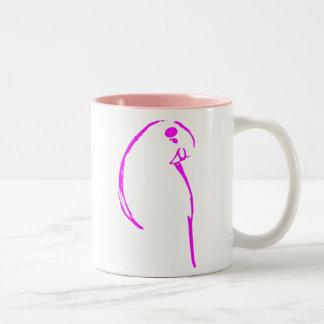 Pink Budgie Mug