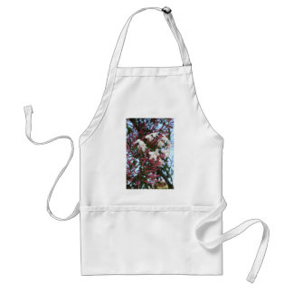 Pink Buds and Jasmine Blossom Close Up Adult Apron