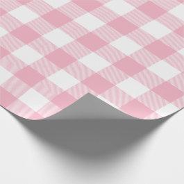 Pink Buffalo Check Pattern Wrapping Paper