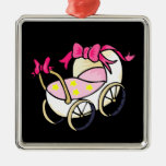 Pink Buggy Ornaments
