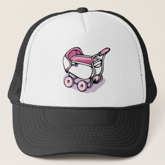 pink buggy trucker hat