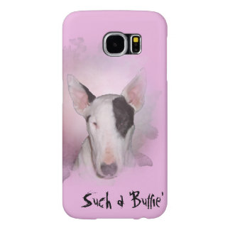 Pink Bull Terrier Butterfly Samsung Galaxy S6 Case