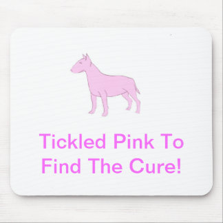 Pink Bull Terrier Mouse Pad