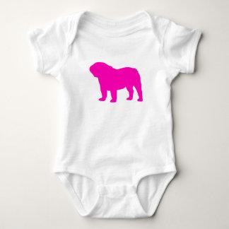 Pink Bulldog Baby Bodysuit