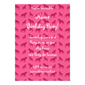 Pink bulldog pattern 5x7 paper invitation card
