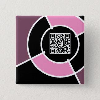 pink bullseye QR code Button
