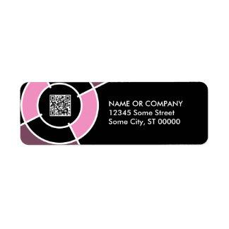 pink bullseye QR code Label