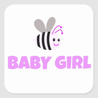 Pink Bumble Bee Baby Girl Stickers