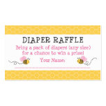Pink Bumble Bee Diaper Raffle Tickets Double-Sided Standard Business Cards (Pack Of 100)