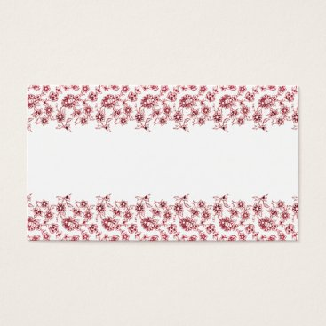 Professional Business Pink Bunches of Flowers Business Card