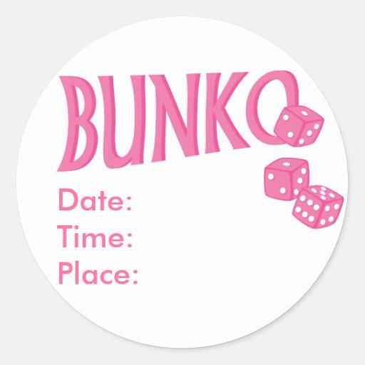 Pink Bunko Reminder Stickers