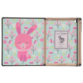 Pink Bunnies and Flowers