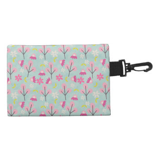 Pink Bunnies and Flowers Accessory Bag
