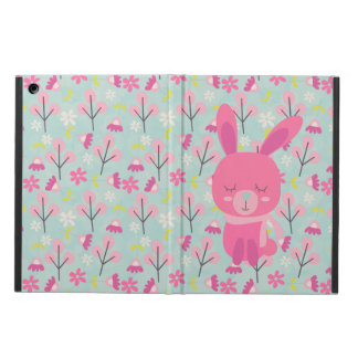 Pink Bunnies and Flowers iPad Air Cases