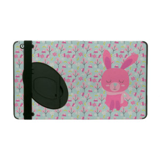 Pink Bunnies and Flowers iPad Covers