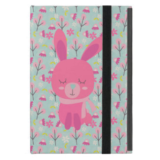 Pink Bunnies and Flowers iPad Mini Case