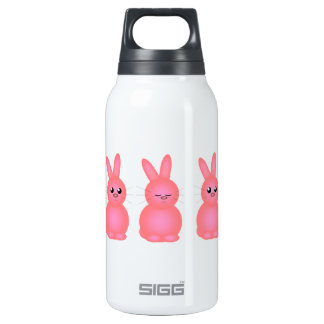 Pink Bunnies Insulated Water Bottle