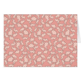 Pink Bunnies Pattern Card