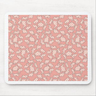 Pink Bunnies Pattern Mouse Pad