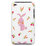 Pink Bunnies With Carrots Barely There iPod Cover