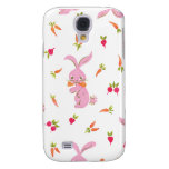 Pink Bunnies With Carrots Galaxy S4 Cases