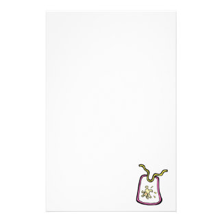 pink bunny bib stationery