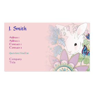 Pink Bunny Business/Profile Cards