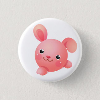 Pink Bunny Button