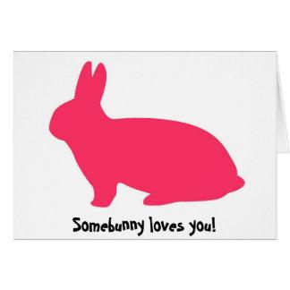 Pink Bunny Greeting Card