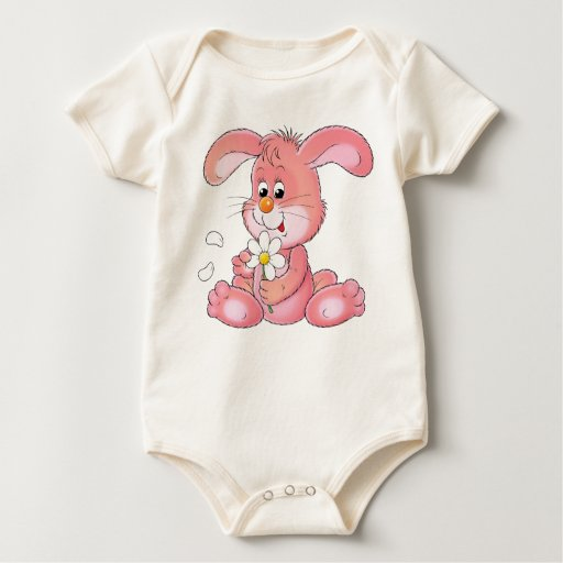 Pink Bunny clothing for kids Romper