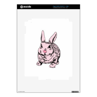 Pink Bunny Drawing Decal For iPad 2