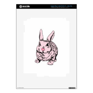 Pink Bunny Drawing Decal For iPad 3