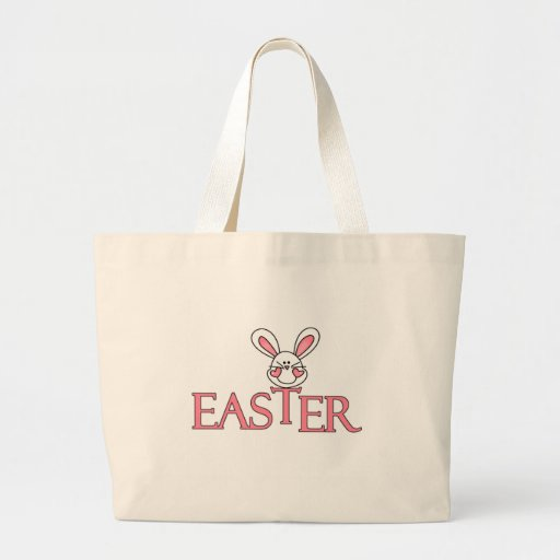 Pink Bunny Easter T-shirts and Gifts Large Tote Bag