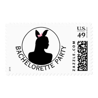 Pink Bunny Girl Bachelorette Party Postage