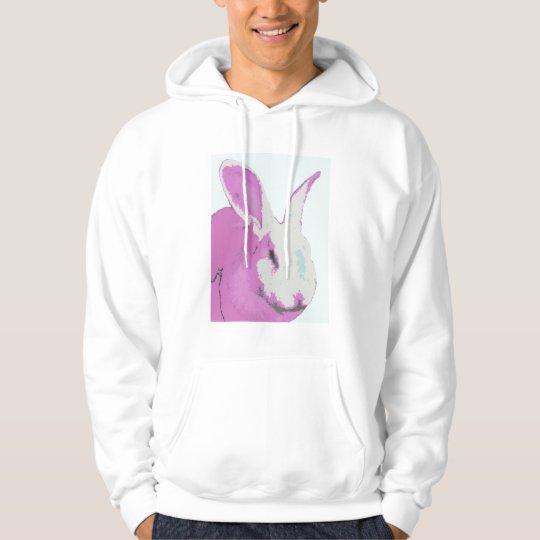 Pink Bunny Graphic Hooded Sweatshirt