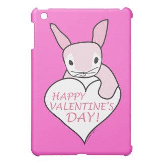 Pink Bunny Happy Valentine's Day iPad Mini Cases