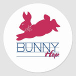 Pink Bunny Hop Stickers