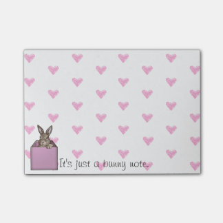 pink bunny-in-the-box post-it notes